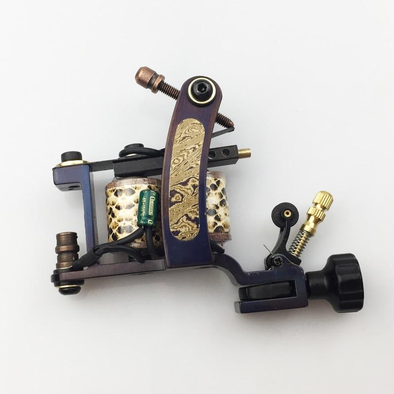 Damascus Tattoo Machine Gun coils Manual Tattoo Machine Gun 10 Wraps Coils for body tattooing <br>