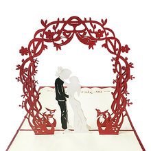 2017 new Lover couple wishes wedding invitation greeting card  3D paper-cut engraved invitation card mark card