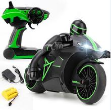 Flash Light Highest Speed RC Motorcycle 40KM/H 2 Color Inclining 30 Degree 24*14.5*13CM Remote Control Motorbike Drop Shipping(China)