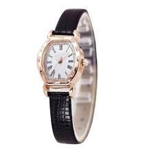 New Brand Luxury Women Watches Gold Plated Quartz Watch Women Dress Watches High Quality PU Leather Clock montre femme