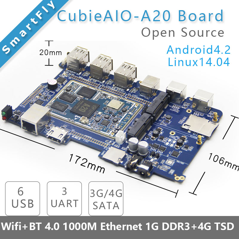 CubieAIO A20 Board open source All In One Mini embedded computer Android Linux UART x4 USB x6 Allwinner A20, ARM DEMO BOARD<br><br>Aliexpress