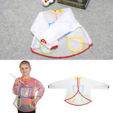 New 1Pc Toddler Child Craft Waterproof Long Sleeve Artist Cooking Painting Apron Smock