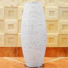 Chrismas White & Brown Grey Bamboo Floor Vase Large Handcraft Big Home Decor Craft Flower Pot For Wedding Decoration Floor Vase(China)