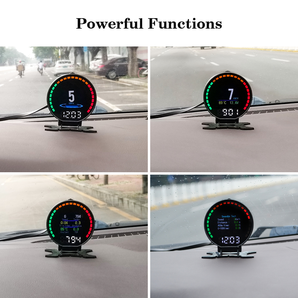 P15 Smart Car Head Up Display HUD with Windshield Digital Motor Speed Meters Projector OBD2EUOBD Interface for 99% of Vehicles_F2