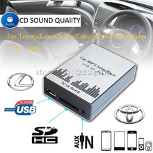 USB SD AUX car MP3 music player Adapter CD Changer for Toyota Lexus Scion Camry Corolla Interface,car kit car-styling