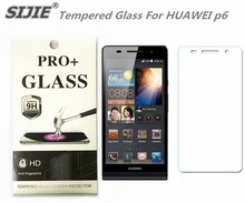 SIJIE Tempered Glass For HUAWEI p6 Ascend Screen Protector protective save cover front discount with Retail Package 4.7 inch