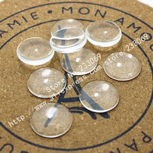 50pcs/lot Wholesale clear glass cabochons tray pendant cover 20mm Round Cabochons T0057