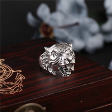 fashion Men Tough guy punk style Retro Domineering tiger head rings high quality 316L Biker free delivery(China)