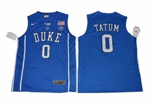2017 NIKE Duke Blue Devils Harry Giles 1 V Neck College Elite Ice Hockey Jersey - Blue Size S M L XL 2XL 3XL(China)