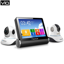VStarcam Direct Factory NVS-K200 Wireless Network Video Server Monitor + WIFI CCTV IP Camera C7838WIP Kit(China)