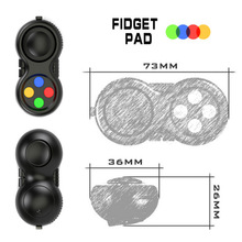 SELLWORLDER 1pcs Fidget Pad Original with Retail Box Puzzles Fidget Cube Magic Toy for Birthday Gift Toys & Hobbies()