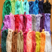 110 yards/lot random mix 11 colors 11mm--14mm width Elastic Stretch Lace trim sewing/garment/clothes accessories(China)