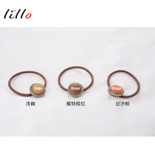2017 South Korea's new authentic hair accessories purchasing retro fabric buttons simple gas quality section of the hair band ha(China)