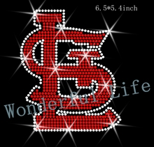 "A quality Wonderful Life Rhinestone Transfer ""St. Louis Cardinals logo"" Hotfix  Iron On Bling free shipping"