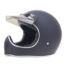 retro motorcycle helmet for Man and Woman Full Face motorcycle helmet FMVSS 218 Approved come with visor for all retro bikers(China)