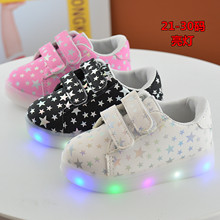 2017 top sale rabbitpolice brand Children glowing Sneakers Fashion Sport Led  Luminous led  for Kids  Boys Casual Girls shoes