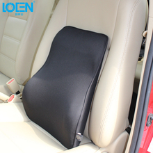 2017 New arrival Super Soft Lumbar Cushion Home Office Back Supports car Auto Seat Supports Chair Back massager Universal black(China)