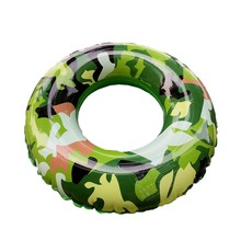 2017 Summer Swimming Ring Camouflage Inflatable Adult And Kids Children Swimming Pool Seaside Safety Swim Train Float Circle(China)