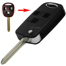 Uncut Blade Band New 3 BUTTON REMOTE KEY FOB CASE For TOYOTA FJ/Land Cruiser Camry TOY43
