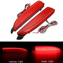2Pcs LED Rear Bumper  Reflector Tail Brake Stop Running Light For Mazda 6 ATENZA 2014-2016