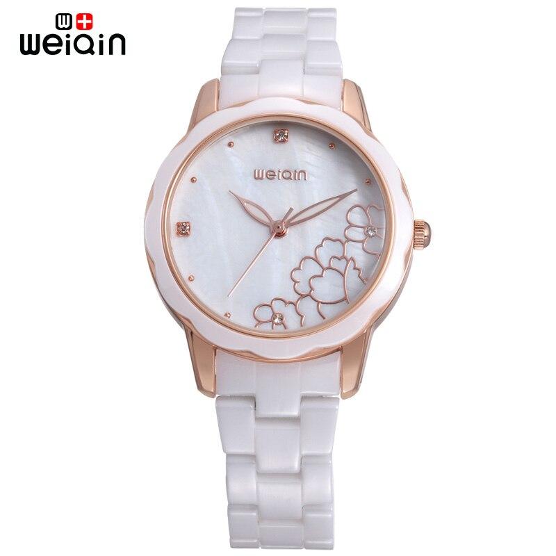 WEIQIN High Quality Luxury Ceramic Watch Women 2017 Fashion Shell Dial Ladies Watches Elegant Relogio Feminino W3221<br>
