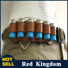 "Shotgun Shell Holder 12G Holder Loop 6 Cartridge Tactical Pouch Airsoft Pistol Fit 2"" Wide Belt of Hunting Gun Accessory"