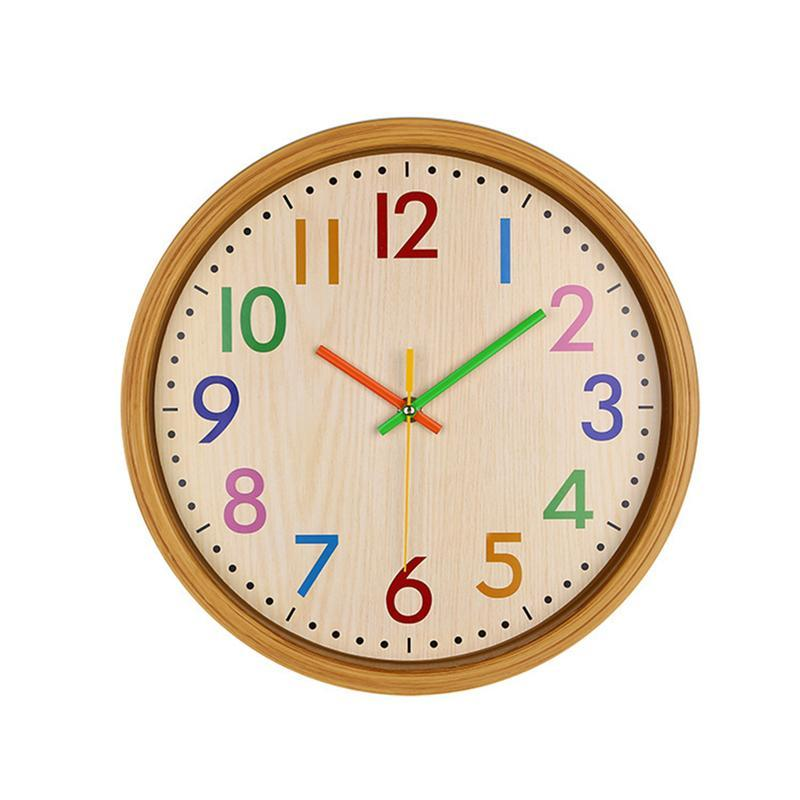 12 Inch Silent Wall Clock Large Decorative Non Ticking Colorful