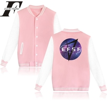 Hip Hop Big Sale Baseball Jacket jaqueta feminina Pink Cotton Jacket Coat for Starry Star winter jacket women Sweatshirt XXL(China)