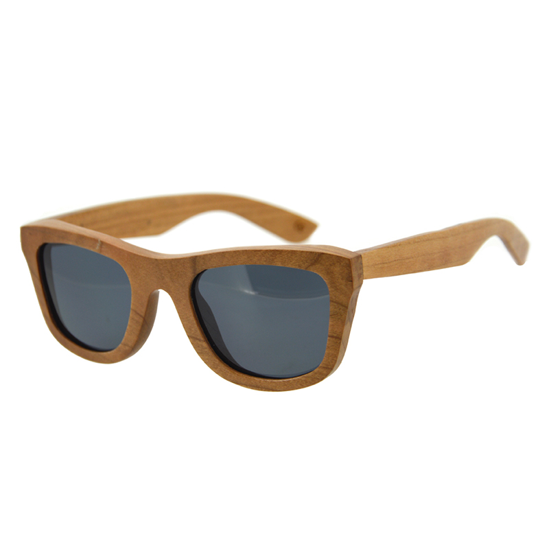 HALLOWEEN GIFTS Wood Frames Women Sunglasses Grey Lens Polarized Rays Protection Wooden Mens Carter Glasses Oculos Bamboo Case  <br><br>Aliexpress