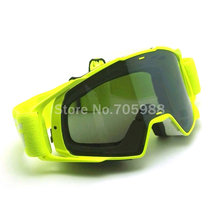 GREEN Motorcycle Goggles Glasses Motocross googles Bike Cross Country Flexible Goggles WATERPRROF