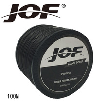 JOF 4 Strands 100M PE Braided Fishing Line Multifilament Fishing Line Wire Gray/Yellow/Blue/Green/Orange/ Rose Red 8-100LB