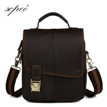 SCPEE new men 's leather shoulder bag handbags men' s mail package bags safe free shipping(China)