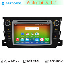 1024*600 Quad Core CPU Android 5.1.1 Car DVD Player for Mercedes Benz Smart Fortwo 2011 2012 2013 2014 Radio Stereo GPS Navi(China)