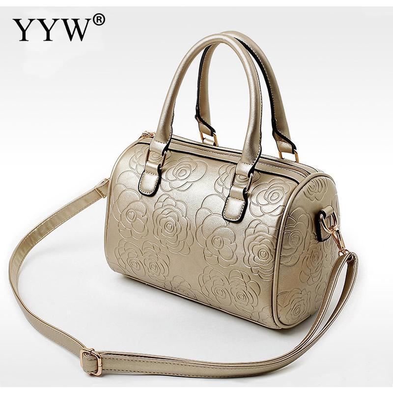 Different Size 3 sets Women Handbag Composite Bag Floral Leather Female Casual Tote<br>