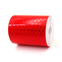 5cmx3m Safety Mark Reflective tape stickers car-styling Self Adhesive Warning Tape Automobiles Motorcycle Reflective Film Red