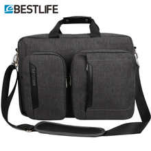 BESTLIFET Transform Business Laptop backpack Canvas packbag multi functional business bag for man travel bags mochila masculina(China)