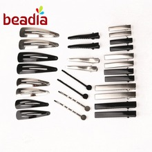 New 20pcs Metal 4 Styles Hair Accessories Hairpin Barrette Fitting Baby Kid Child Hair Pins DIY hair Jewelry Findings(China)