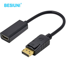 2017 New Black for HP/DELL Laptop PC Male To Female DP to HDMI Cable Display Port to HDMI Adapter Converter