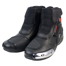 Scoyco MR002 Moto Racing Leather Motorcycle Boots Shoes Motorbike Riding sport road SPEED professional botas Men Women Black(China)