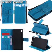 Buy Luxury Wallet PU Leather Anti fall Phone Case SONY Xperia E5 Case Flip Back Cover SONY Xperia E5 phone shell for $3.76 in AliExpress store