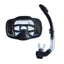 full face diving goggles tempered glass tube dry snorkel set MS-25530(China)