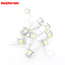 1X Auto T10 5 LED 1W 5050 W5W Wedge Door Parking Bulb Light Car 5W5 LED Dome Festoon C5W C10W License Plate Light Xenon DRL