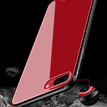 Tempered Glass Cases for iPhone 7 Case 8 Plus Luxury Brand for iPhone 8 Case Shockproof Armor PC for iPhone X Case Glass Cover(China)