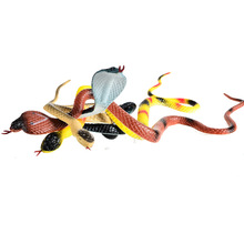4pcs BOHS Prank Toys Soft Scary Simulation Snake Model(China)