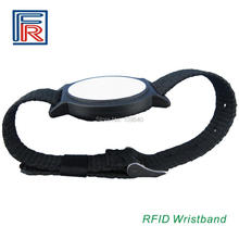 China leader Manufacturer of rfid Nylon wristband 13.56mhz bracelet ISO14443A HF rfid tag 3pcs/lot