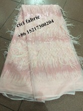 nice looking CiCi-51434 feather Nigerian Lace Fabric best Quality sequins African Cord lace African Lace Fabric For bridal dress