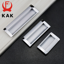 5PCS KAK Hidden Cabinet Drawer Handles Embed Knobs Kitchen Cupboard Door Aluminium Alloy Handle Wardrobe Pull Furniture Hardware(China)
