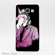 2872CA REAL UNICORNS WEAR PINK Transparent Hard Cover font b Case b font for Galaxy A3