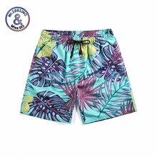 Mr.1991INC 2019 shorts Da Praia do Verão Tropical deixa impressão homme de secagem  rápida boardshorts bermudas masculinas de mar. ebacc53fcd7aa