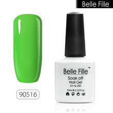 BELLE FILLE Fashion Candy Nail Gel Polish Beautiful UV Fingernail Polish nail Need primer Coat makeup for Beauty Free Shipping(China)